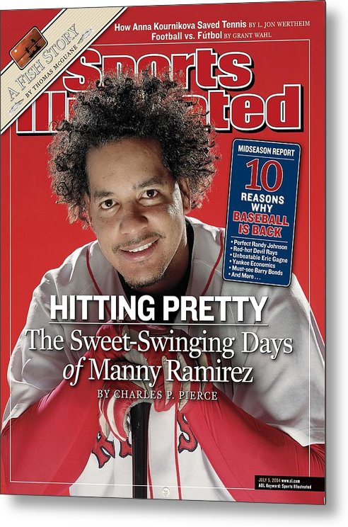 Magazine Cover Metal Print featuring the photograph Boston Red Sox Manny Ramirez Sports Illustrated Cover by Sports Illustrated