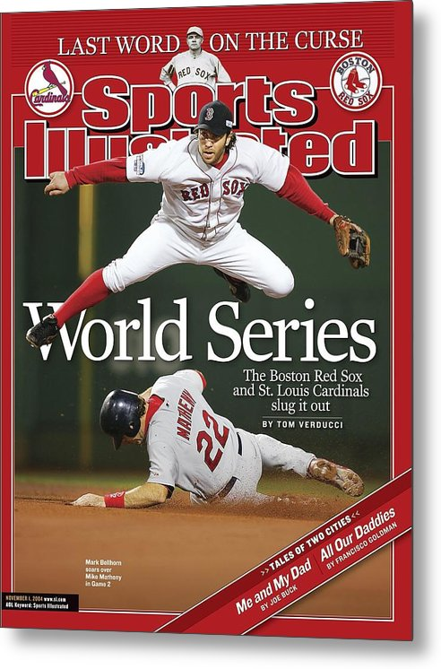 St. Louis Cardinals Metal Print featuring the photograph Boston Red Sox Mark Bellhorn, 2004 World Series Sports Illustrated Cover by Sports Illustrated