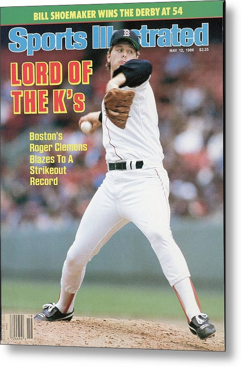 1980-1989 Metal Print featuring the photograph Boston Red Sox Roger Clemens... Sports Illustrated Cover by Sports Illustrated