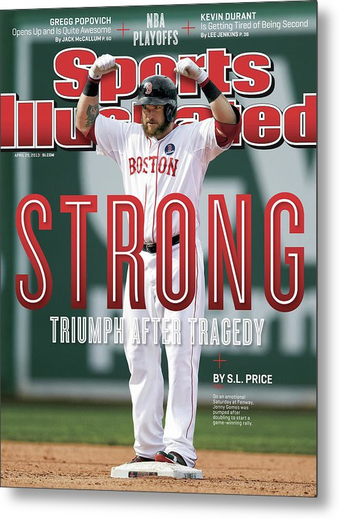 Magazine Cover Metal Print featuring the photograph Boston Strong Triumph After Tragedy Sports Illustrated Cover by Sports Illustrated