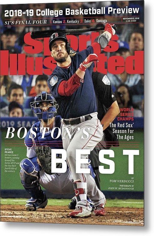 Magazine Cover Metal Print featuring the photograph Bostons Best Boston Red Sox, 2018 World Series Champions Sports Illustrated Cover by Sports Illustrated