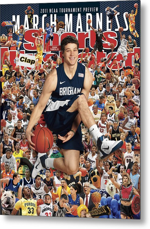 Provo Metal Print featuring the photograph Brigham Young University Jimmer Fredette, 2011 March Sports Illustrated Cover by Sports Illustrated