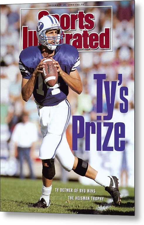 Provo Metal Print featuring the photograph Brigham Young University Qb Ty Detmer Sports Illustrated Cover by Sports Illustrated