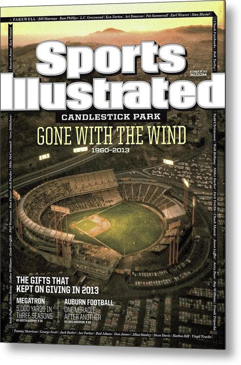 Candlestick Park Metal Print featuring the photograph Candlestick Park Gone With The Wind Sports Illustrated Cover by Sports Illustrated
