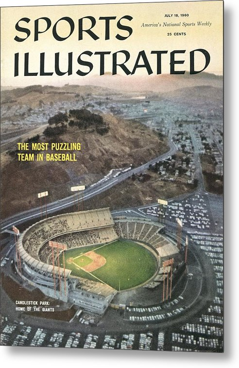 Candlestick Park Metal Print featuring the photograph Candlestick Park Sports Illustrated Cover by Sports Illustrated