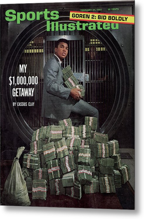 Magazine Cover Metal Print featuring the photograph Cassius Clay, Heavyweight Boxing Sports Illustrated Cover by Sports Illustrated