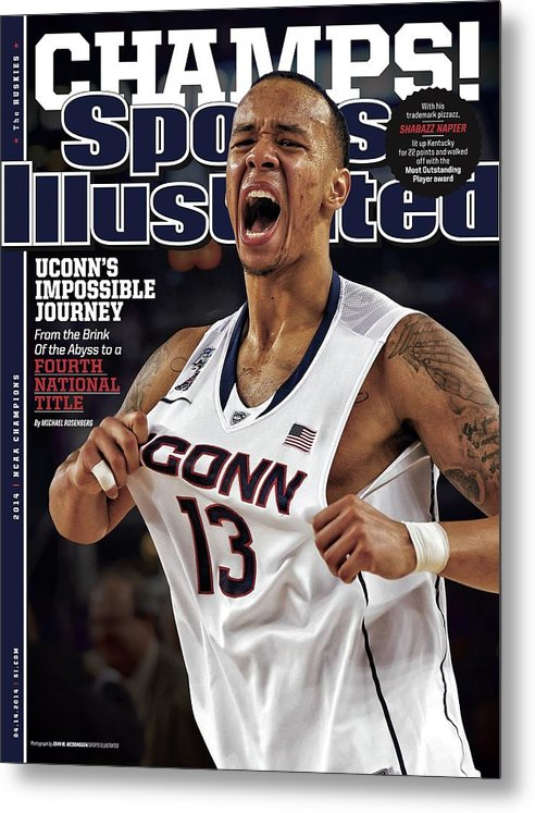 Magazine Cover Metal Print featuring the photograph Champs Uconns Impossible Journey From The Brink Of The Sports Illustrated Cover by Sports Illustrated