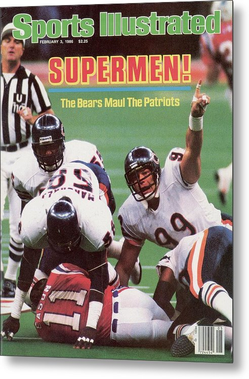 1980-1989 Metal Print featuring the photograph Chicago Bears Dan Hampton, Super Bowl Xx Sports Illustrated Cover by Sports Illustrated