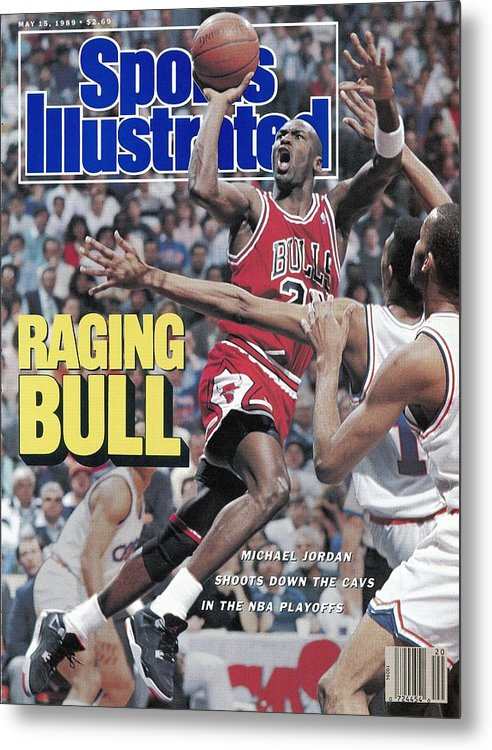Playoffs Metal Print featuring the photograph Chicago Bulls Michael Jordan, 1989 Nba Eastern Conference Sports Illustrated Cover by Sports Illustrated