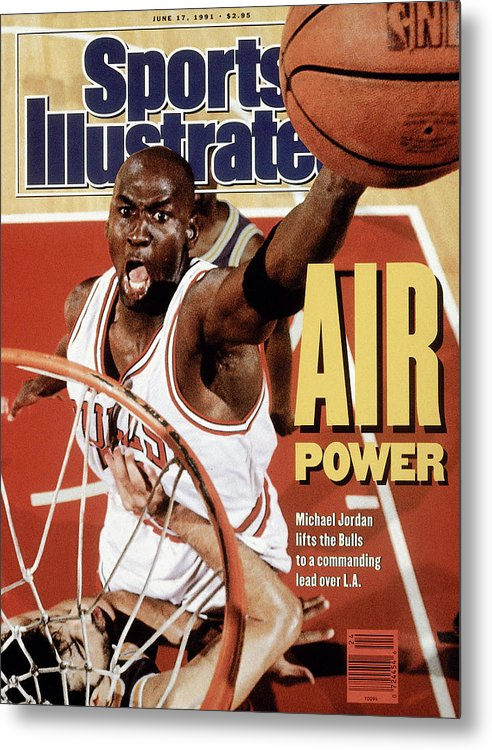 Playoffs Metal Print featuring the photograph Chicago Bulls Michael Jordan, 1991 Nba Finals Sports Illustrated Cover by Sports Illustrated