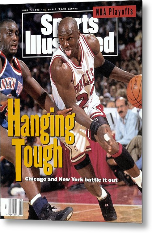 Playoffs Metal Print featuring the photograph Chicago Bulls Michael Jordan, 1993 Nba Eastern Conference Sports Illustrated Cover by Sports Illustrated