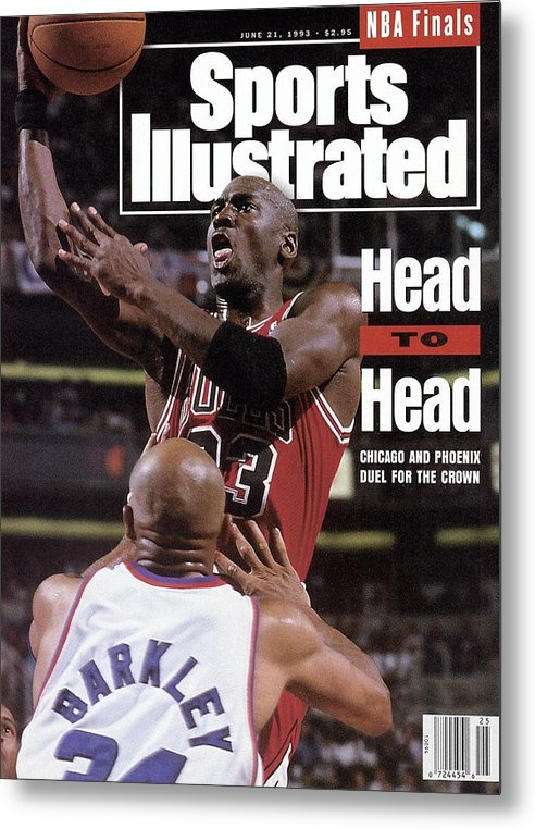Playoffs Metal Print featuring the photograph Chicago Bulls Michael Jordan, 1993 Nba Finals Sports Illustrated Cover by Sports Illustrated