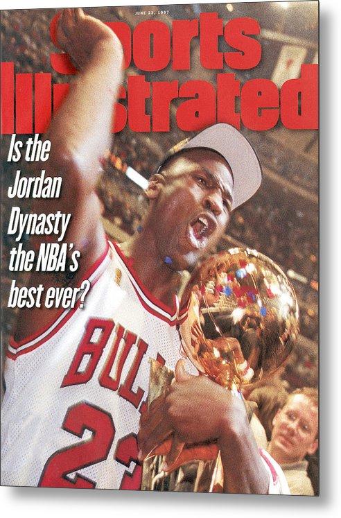 Magazine Cover Metal Print featuring the photograph Chicago Bulls Michael Jordan, 1997 Nba Finals Sports Illustrated Cover by Sports Illustrated