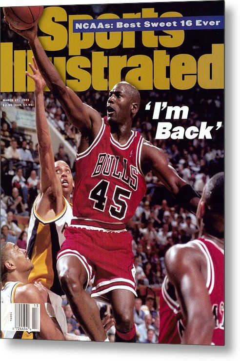Nba Pro Basketball Metal Print featuring the photograph Chicago Bulls Michael Jordan... Sports Illustrated Cover by Sports Illustrated