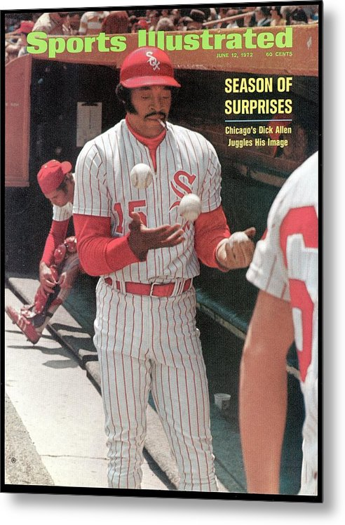 Magazine Cover Metal Print featuring the photograph Chicago White Sox Dick Allen... Sports Illustrated Cover by Sports Illustrated