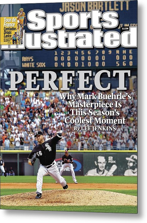 Magazine Cover Metal Print featuring the photograph Chicago White Sox Mark Buehrle... Sports Illustrated Cover by Sports Illustrated