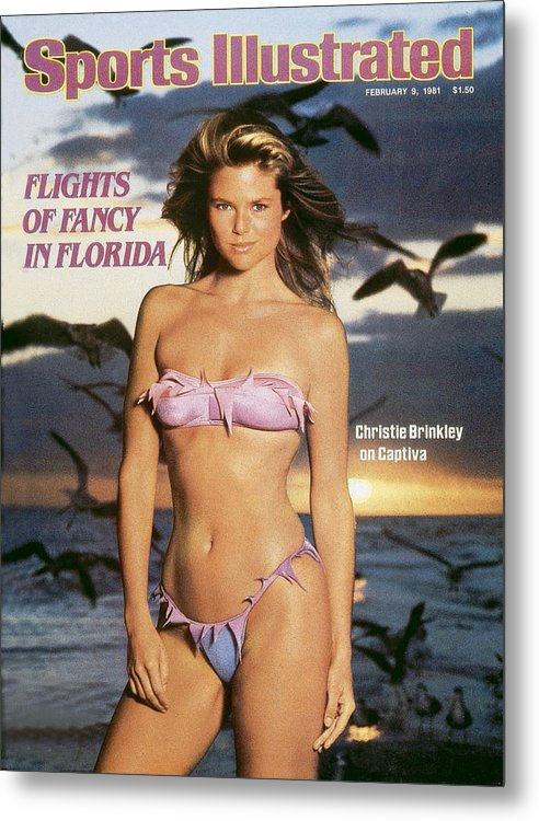 1980-1989 Metal Print featuring the photograph Christie Brinkley Swimsuit 1981 Sports Illustrated Cover by Sports Illustrated