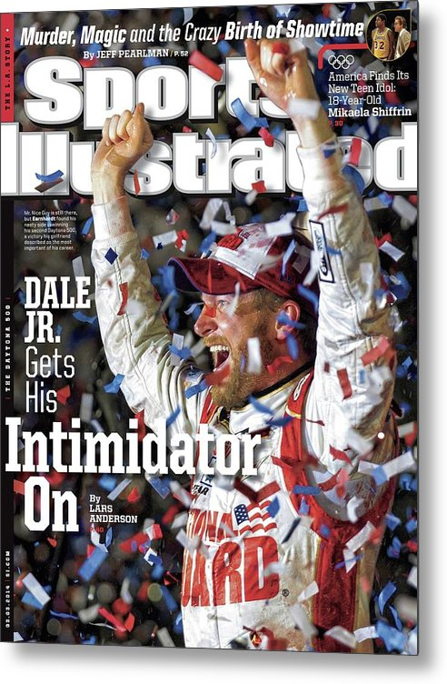 Magazine Cover Metal Print featuring the photograph Dale Jr. Gets His Intimidator On Sports Illustrated Cover by Sports Illustrated