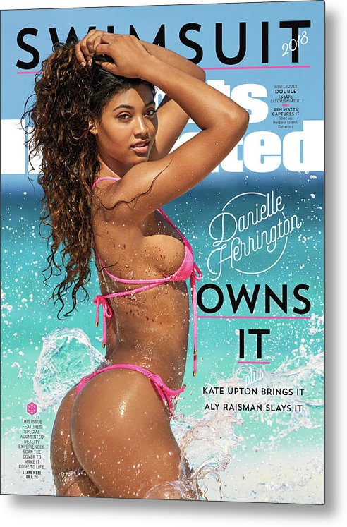 Three Quarter Length Metal Print featuring the photograph Danielle Herrington Swimsuit 2018 Sports Illustrated Cover by Sports Illustrated