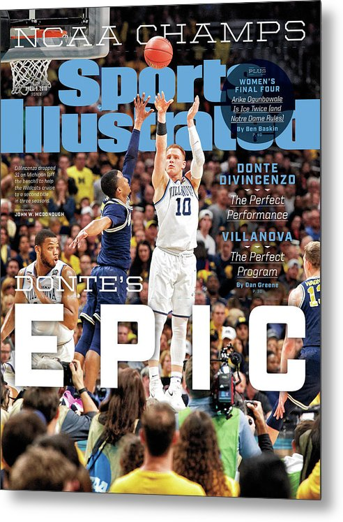 Magazine Cover Metal Print featuring the photograph Dantes Epic Donte Divincenzo, The Perfect Performance Sports Illustrated Cover by Sports Illustrated