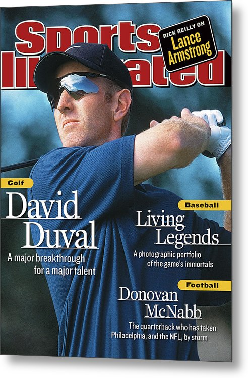 Magazine Cover Metal Print featuring the photograph David Duval, 2001 British Open - Final Round Sports Illustrated Cover by Sports Illustrated