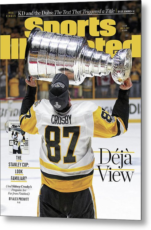 Magazine Cover Metal Print featuring the photograph Deja View. The Stanley Cup Look Familiar Sports Illustrated Cover by Sports Illustrated