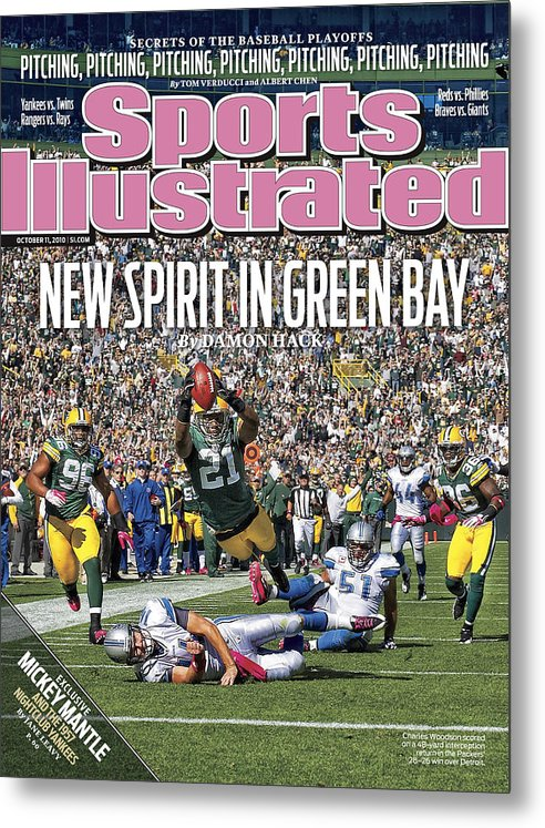 Green Bay Metal Print featuring the photograph Detroit Lions V Green Bay Packers Sports Illustrated Cover by Sports Illustrated