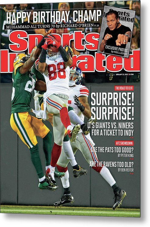 Green Bay Metal Print featuring the photograph Divisional Playoffs - New York Giants V Green Bay Packers Sports Illustrated Cover by Sports Illustrated