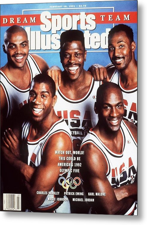 The Olympic Games Metal Print featuring the photograph Dream Team, 1992 Barcelona Olympic Games Preview Sports Illustrated Cover by Sports Illustrated