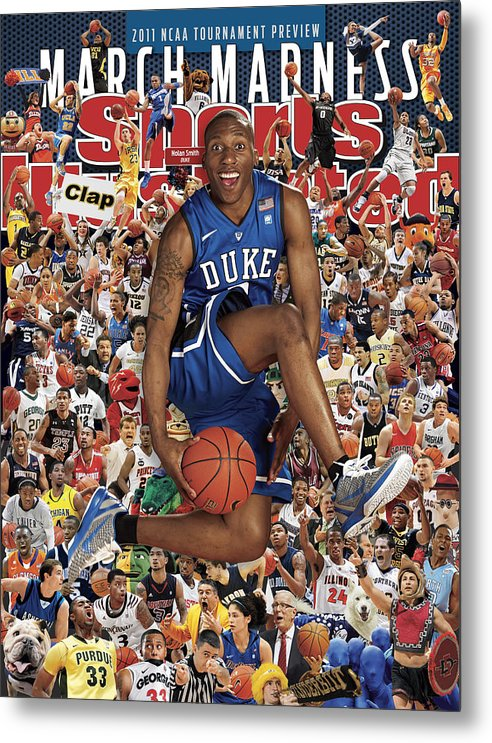 North Carolina Metal Print featuring the photograph Duke University Nolan Smith, 2011 March Madness College Sports Illustrated Cover by Sports Illustrated