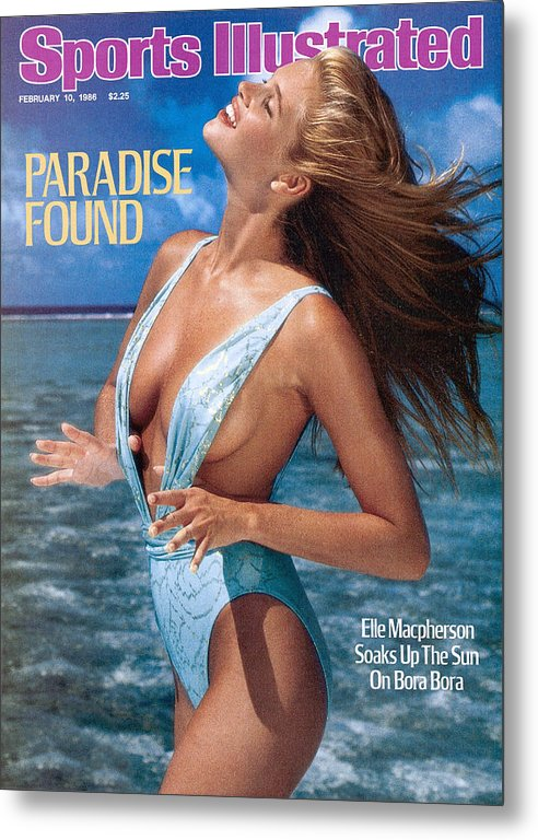 1980-1989 Metal Print featuring the photograph Elle Macpherson Swimsuit 1986 Sports Illustrated Cover by Sports Illustrated
