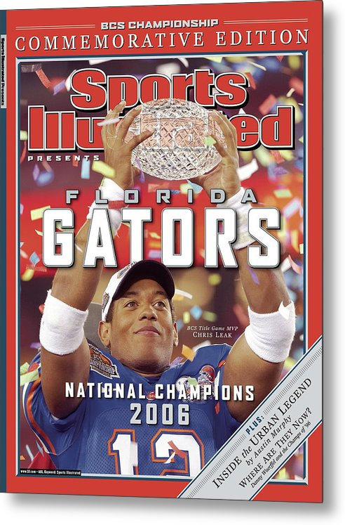 Magazine Cover Metal Print featuring the photograph Florida Qb Chris Leak, 2007 Bcs National Championship Game Sports Illustrated Cover by Sports Illustrated