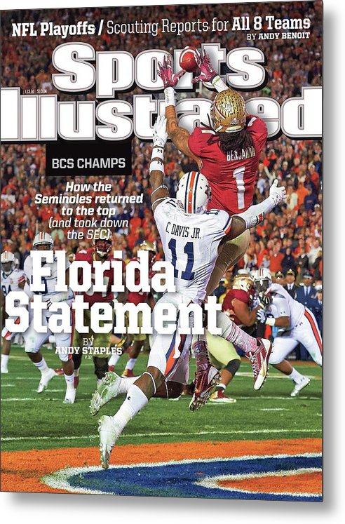Magazine Cover Metal Print featuring the photograph Florida Statement 2013 Bcs Champion Sports Illustrated Cover by Sports Illustrated