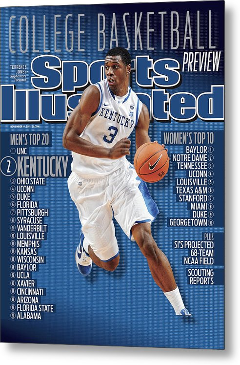 Magazine Cover Metal Print featuring the photograph Florida V Kentucky Sports Illustrated Cover by Sports Illustrated
