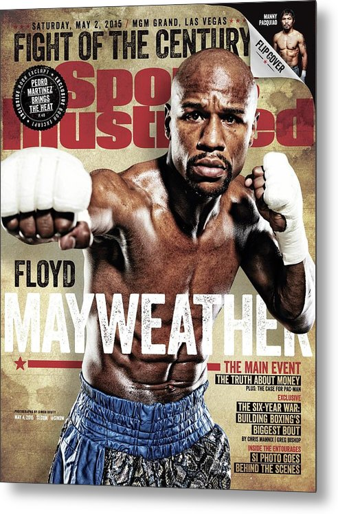 Event Metal Print featuring the photograph Floyd Mayweather Jr., 2015 Wbawbcwbo Welterweight Title Sports Illustrated Cover by Sports Illustrated