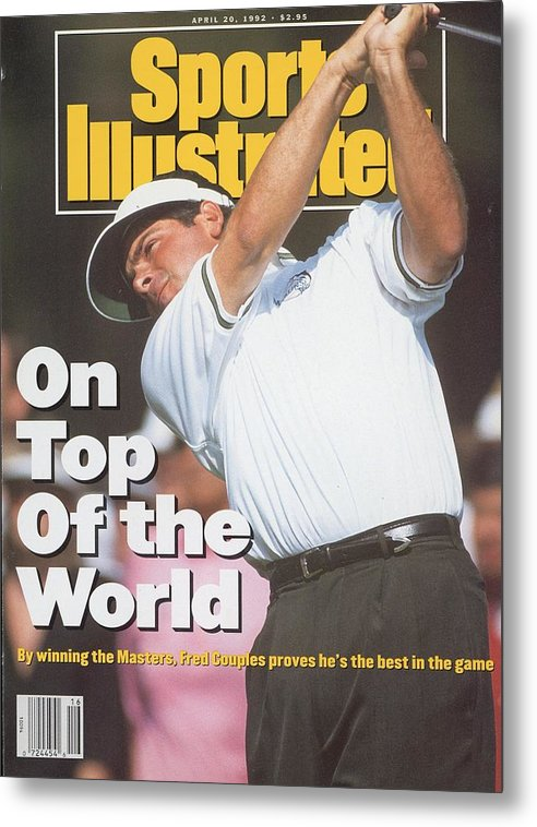 Magazine Cover Metal Print featuring the photograph Fred Couples, 1992 Masters Sports Illustrated Cover by Sports Illustrated