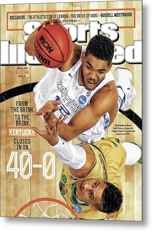 Magazine Cover Metal Print featuring the photograph From The Brink. To The Brink. Kentucky Closes In On Sports Illustrated Cover by Sports Illustrated