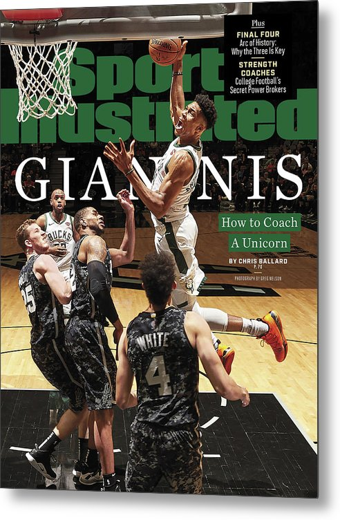 Magazine Cover Metal Print featuring the photograph Giannis How To Coach A Unicorn Sports Illustrated Cover by Sports Illustrated