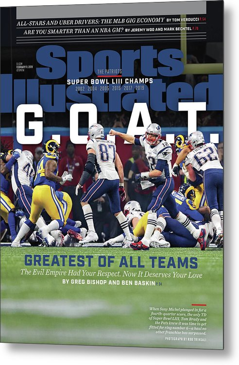 Atlanta Metal Print featuring the photograph G.o.a.t Greatest Of All Teams Sports Illustrated Cover by Sports Illustrated
