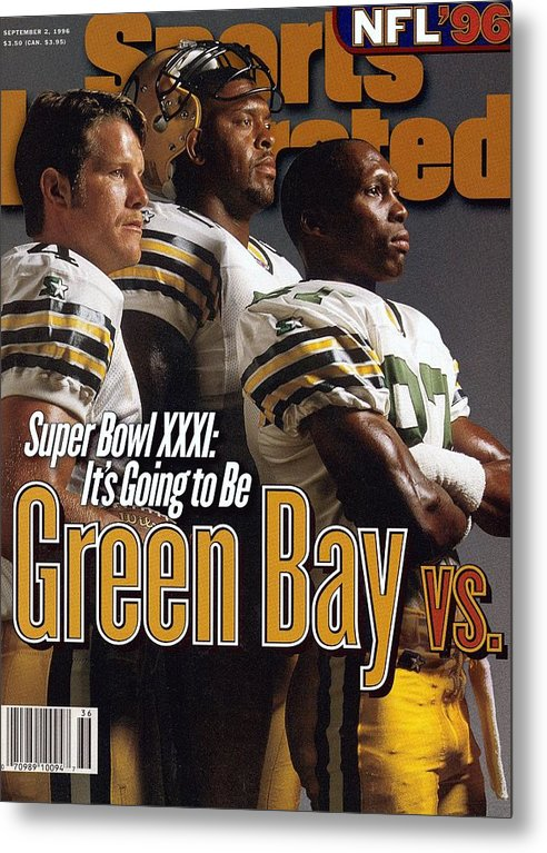 Green Bay Metal Print featuring the photograph Green Bay Packers, 1996 Nfl Football Preview Issue Sports Illustrated Cover by Sports Illustrated