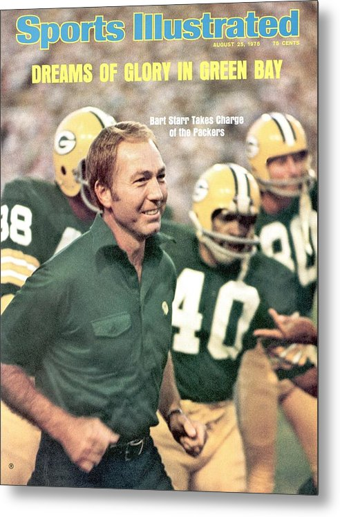 Magazine Cover Metal Print featuring the photograph Green Bay Packers Coach Bart Starr Sports Illustrated Cover by Sports Illustrated