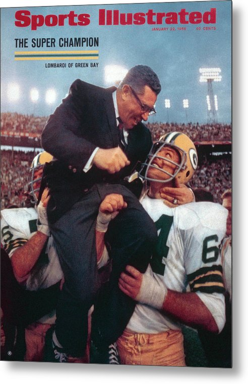 Magazine Cover Metal Print featuring the photograph Green Bay Packers Coach Vince Lombardi, Super Bowl II Sports Illustrated Cover by Sports Illustrated