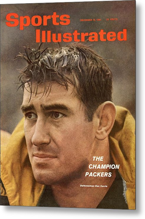 Magazine Cover Metal Print featuring the photograph Green Bay Packers Dan Currie Sports Illustrated Cover by Sports Illustrated