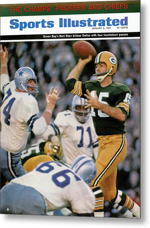 Making Metal Print featuring the photograph Green Bay Packers Qb Bart Starr, 1967 Nfl Championship Sports Illustrated Cover by Sports Illustrated