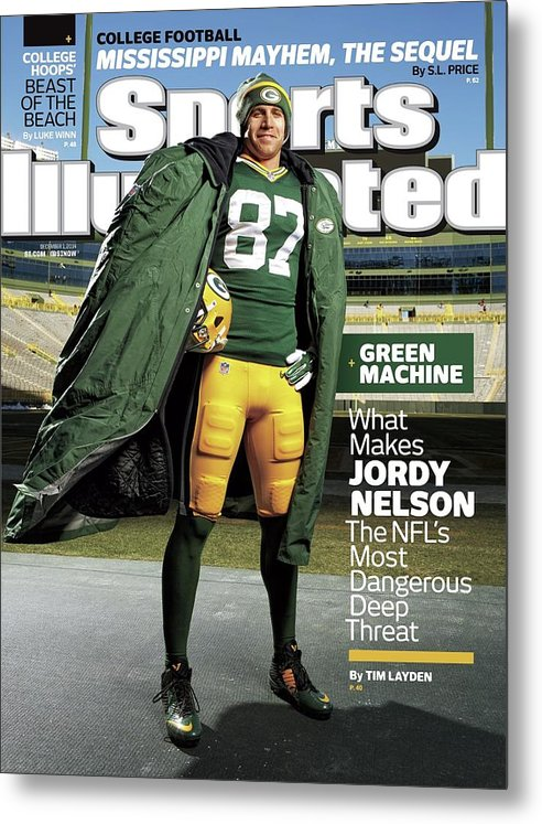 Green Bay Metal Print featuring the photograph Green Machine What Makes Jordy Nelson The Nfls Most Sports Illustrated Cover by Sports Illustrated