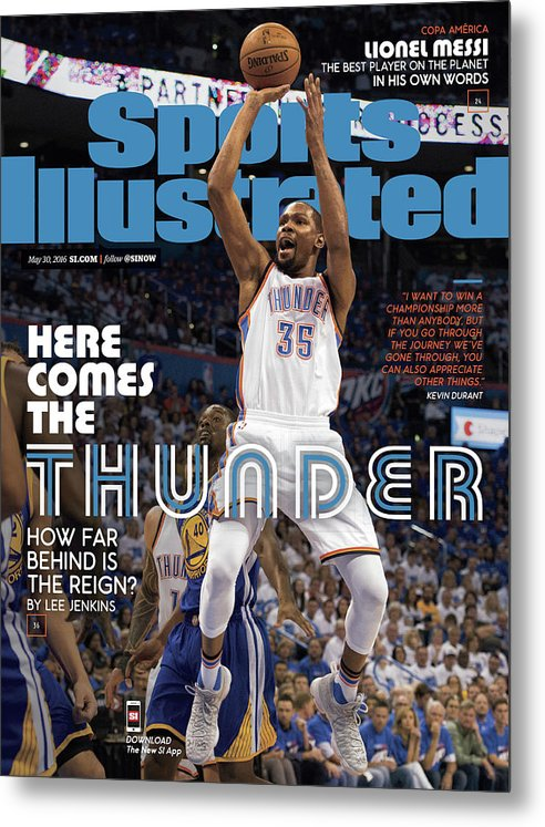 Playoffs Metal Print featuring the photograph Here Comes The Thunder How Far Behind Is The Reign Sports Illustrated Cover by Sports Illustrated