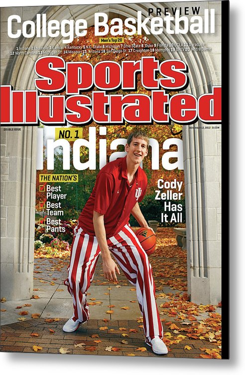 Season Metal Print featuring the photograph Indiana University Cody Zeller, 2012-13 College Basketball Sports Illustrated Cover by Sports Illustrated