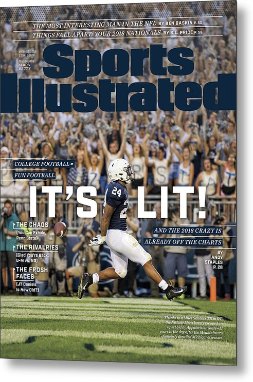 Magazine Cover Metal Print featuring the photograph Its Lit And The 2018 Crazy Is Already Off The Charts Sports Illustrated Cover by Sports Illustrated