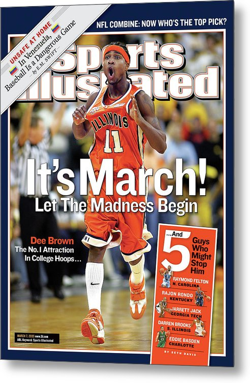 Magazine Cover Metal Print featuring the photograph Its March Let The Madness Begin Sports Illustrated Cover by Sports Illustrated