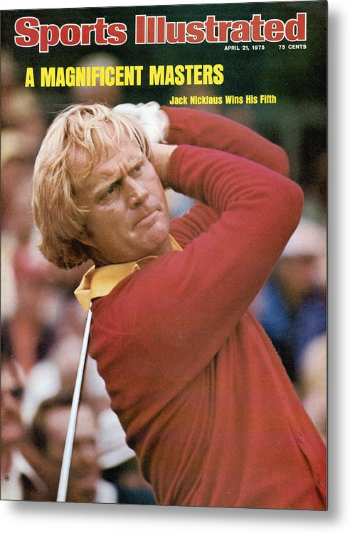 Sports Illustrated Metal Print featuring the photograph Jack Nicklaus, 1975 Masters Sports Illustrated Cover by Sports Illustrated